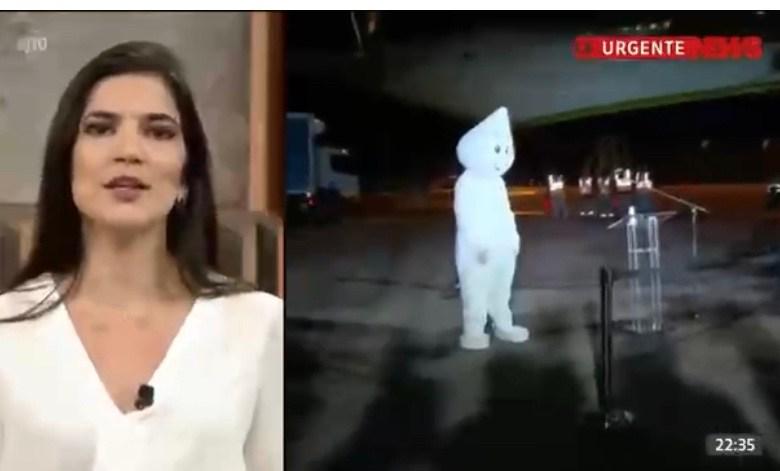Zé Gotinha é abandonado no aeroporto no Rio de Janeiro