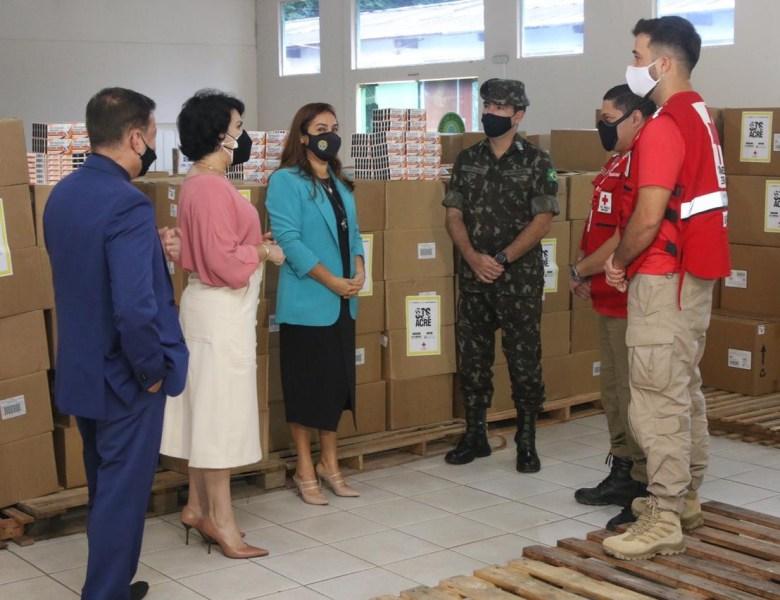 TJAC recebe 15 toneladas em doações da Cruz Vermelha Brasileira