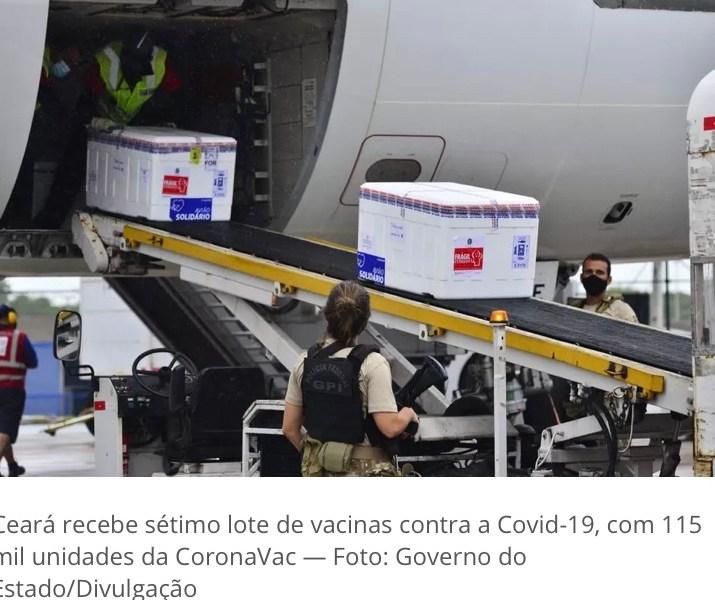 Acre recebe mais 5,5 mil doses de CoronaVac nesta quarta-feira