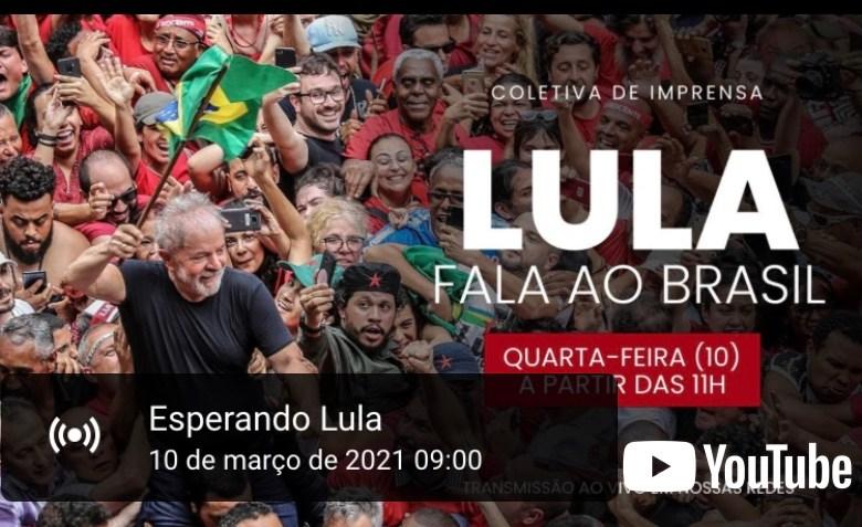 LULA LIVRE: Acompanhe o pronunciamento de Lula aqui