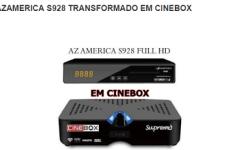 Atualização Azamerica S928 HD Em Cinebox Supremo SKS 107W