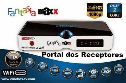 Nova Atualização Cinebox Fantasia Maxx HD