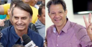 Bolsonaro e Haddad se enfrentam no próximo dia 28.