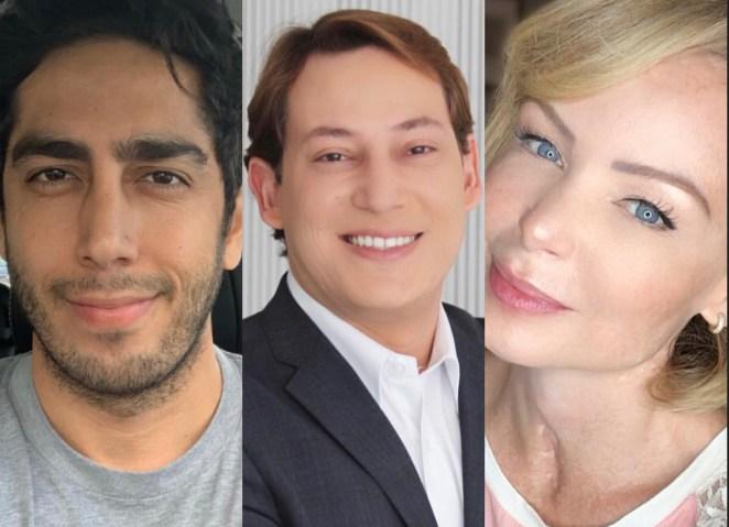 Humorista gospel Jonathan Nemer, Felipe Heiderich e Bianca Toledo.