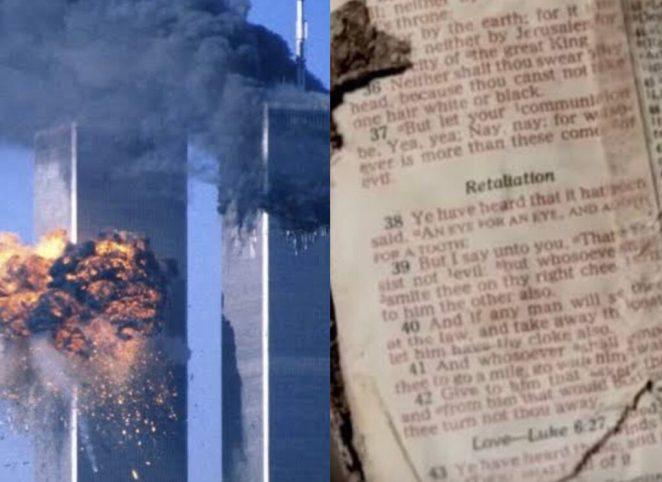 Atentado das torres gêmeas no 11 de setembro.
