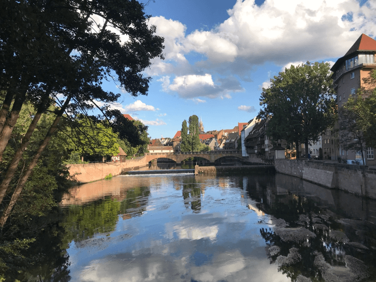 itinerario in treno in Baviera a Bamberga
