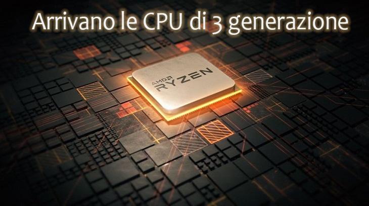 AMD, architettura 3 generazione ZEN, da 7 nm