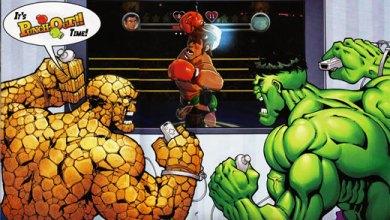 Foto de Hulk & Ben Grimm jogam Wii