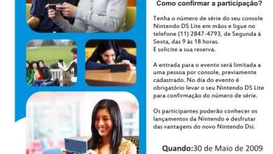 Photo of Evento exclusivo Nintendo DS – 30 de Maio