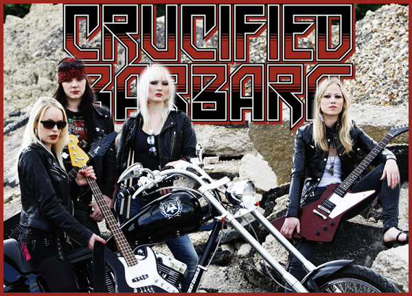 Crucified Barbara mulheres rock