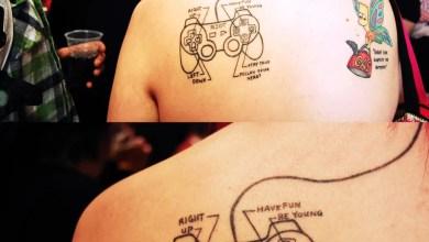 Foto de Game e Música numa ótima e bem sacada Tattoo! [Konami Code, Já ouviu sobre isso?]