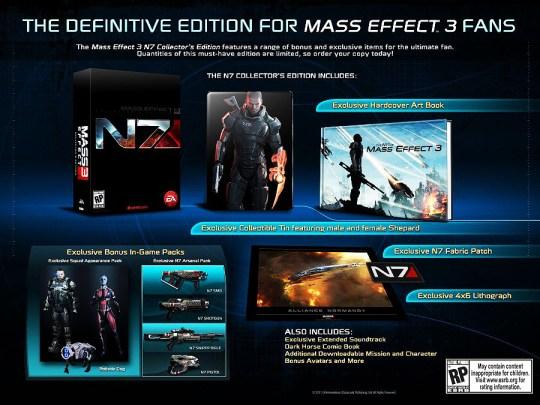 Mass Effect 3 - Edição de Colecionador - conteúdo