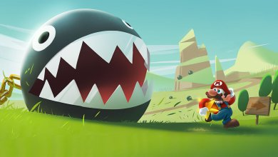 Foto de Fan art | Chain Chomp & Super Mario 64