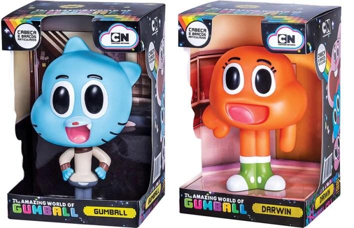 Bonecos Darwin e Gumball