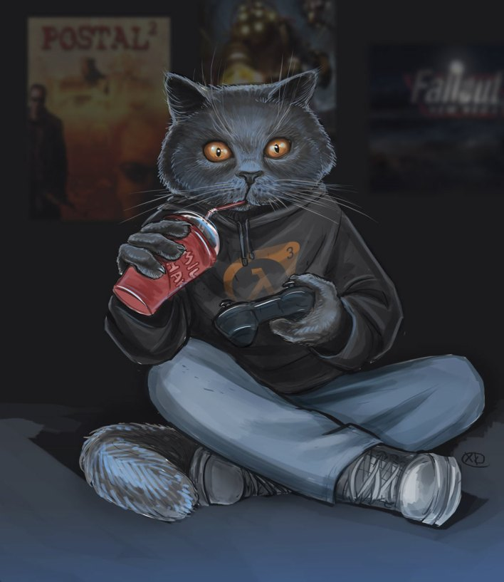 gamer_cat_by_maxkennedy