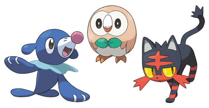 Pokemon-Sun-and-Moon-Iniciais Setima Geracao