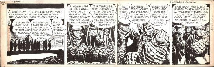 Terry and The Pirates tira original por Milton Caniff