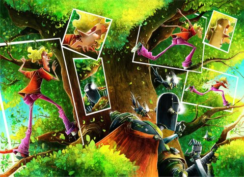 Graphic MSP Louco Fuga Arte digital pág 30 e 31 por Rogério Coelho