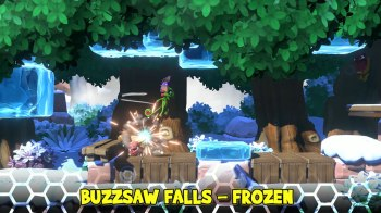 Yooka-Laylee and the Impossible Lair - Buzzsaw Falls - Frozen