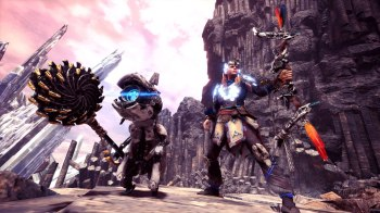 Monster Hunter World Iceborne Collab-Palico_Gear_Watcher_Plus_Felyne_Watcher_Grinder