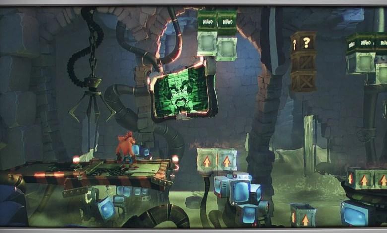 Crash Bandicoot 4 Flashback screen