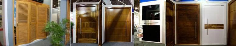 portas de entrada de madeira - macicas - decorativas - externas