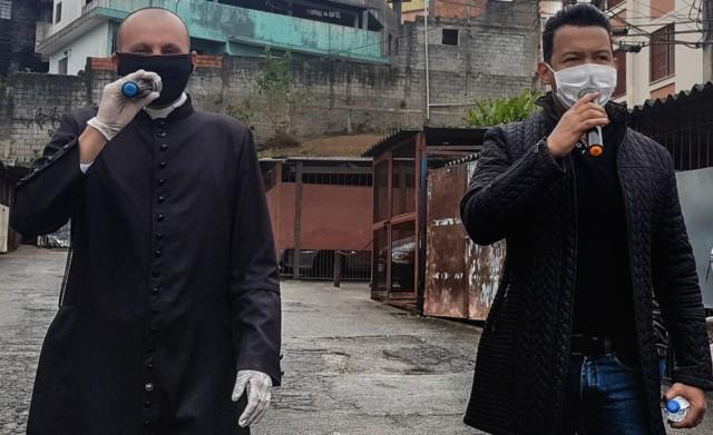 Padre Gean Medeiros e o Cantor Christian Moraes