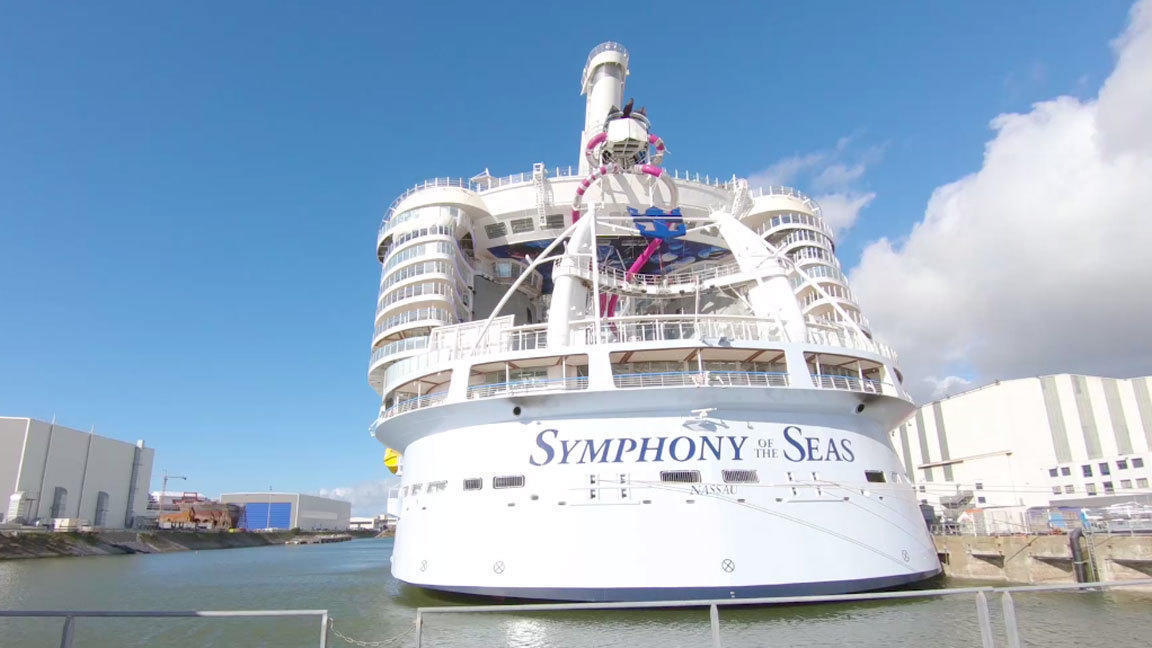 Symphony of the Seas é agora o maior navio de cruzeiros do mundo