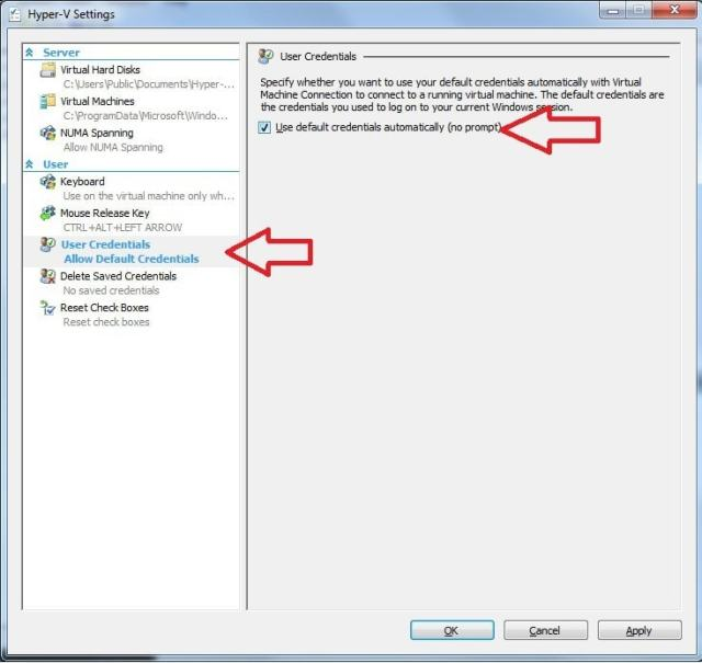 Hyper-V - A connection will not be made because credentials may not be sent to the remote computer.