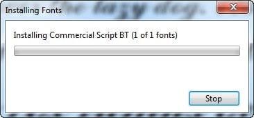 Windows - Instalar nuevo estilo de fuente en Windows - Instalando