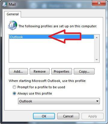 Restablecer Configuración de Microsoft Outlook en Windows - Nuevo Perfil