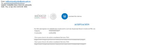 Correo de Aceptacion - VU