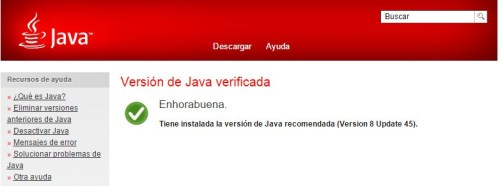 Version java Verificada