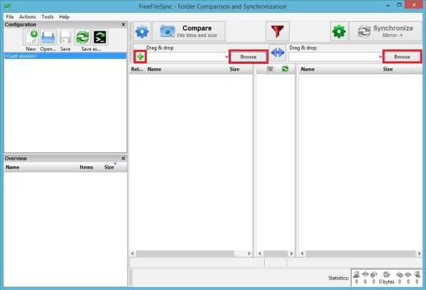 FreeFileSync - Crear respaldo de archivos - Principal