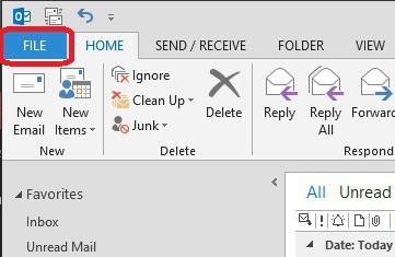 Respaldar Correo en Outlook 2013