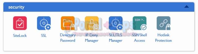 bluehost-cpanel-security-menu