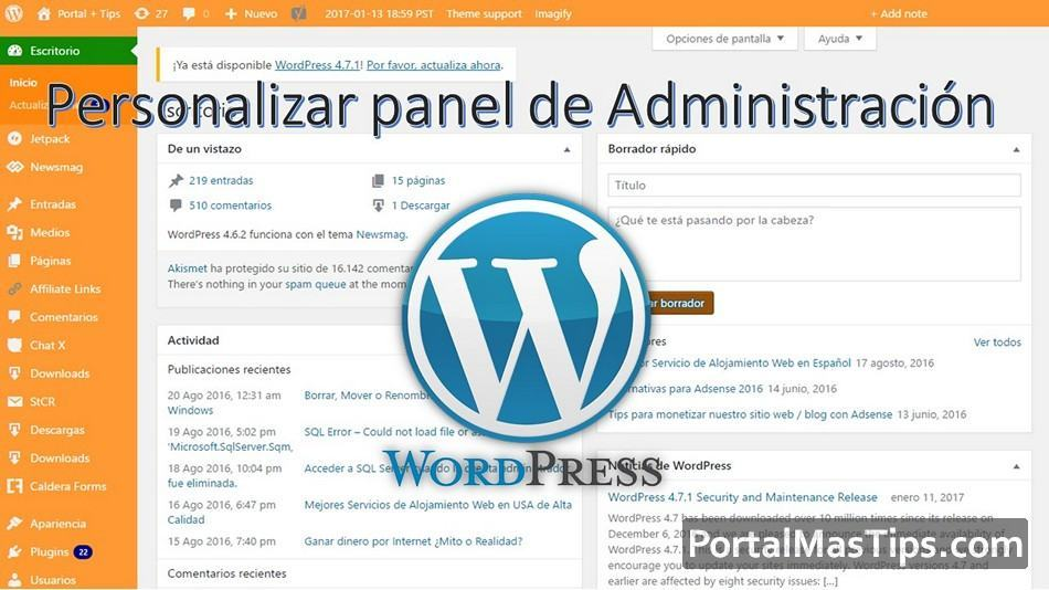 Wordpress - Como personalizar esquema de colores del panel ...