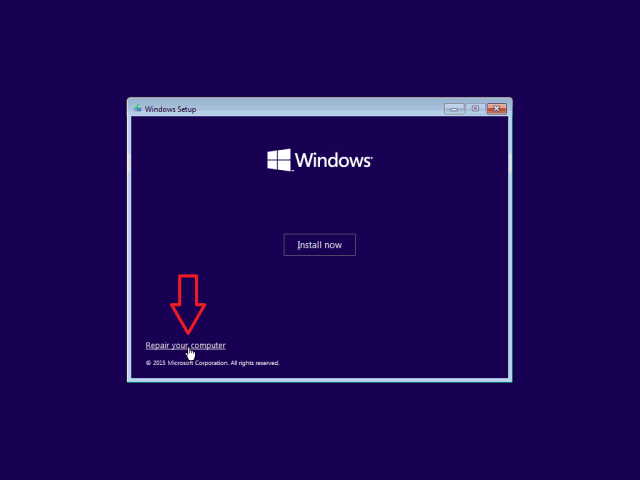 4 windows 10 x64 bootmgr is missing seleccionar reparar