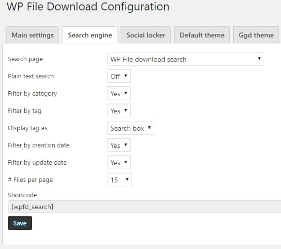 Wp file download joomunited 6 configuracion busqueda