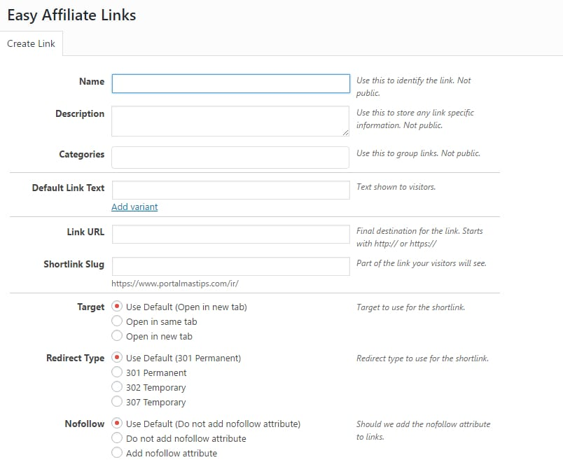 Easy affiliate links nuevo enlace
