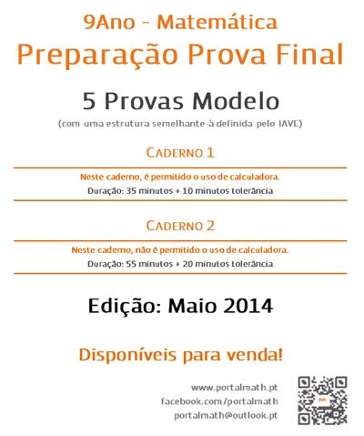 9Ano Provas Modelo de Matemática 2014 2015 portalmath