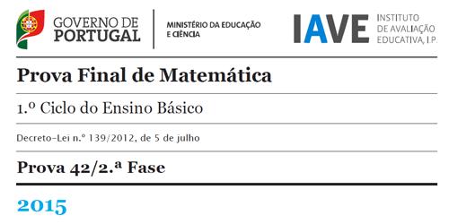 4Ano + 6Ano - Prova Final de Matemática - 2ª Fase - 15 julho 2015