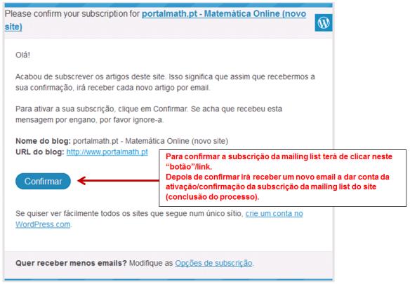 Mailin List - Convite - PortalMath