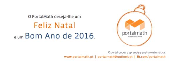 Boas Festas 2015 2016 portalmath