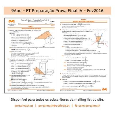 9º ano 9Ano Matemática Novo Programa Ficha Trabalho portalmath Preparação Prova Final 2016