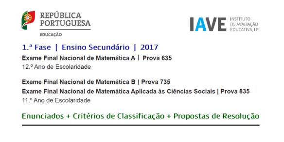 Exames Matemática 2017 Enunciado 23 junho Matemática A Matemática B MACS Resolução
