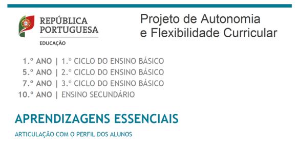 aprendizagens essenciais projeto de autonomia e flexibilidade curricular perfil do aluno