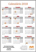 calendário 2018 portalmath