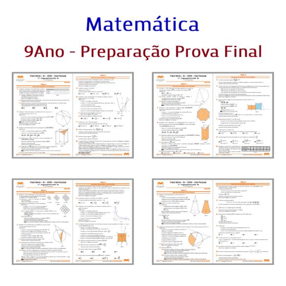 Pack 9Ano - 2018 Matemática Prova Final Exame 9Ano 9º ano