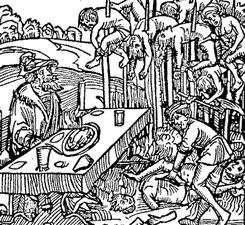 Historia de tortura de pincho de pechuga de mujer